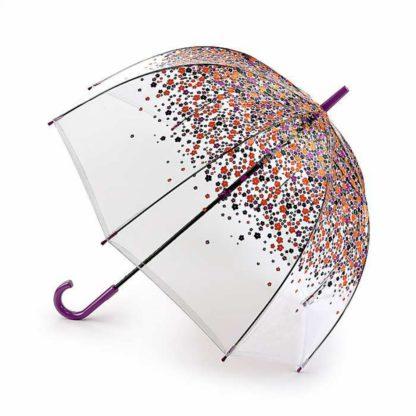Зонт-трость женский Fulton L042 Birdcage-2 Hippie Scatter (Разноцветные незабудки)