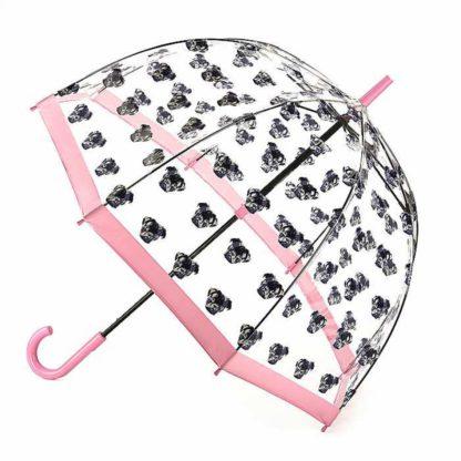 Зонт-трость женский Fulton Birdcage-2 L042 Pugs (Мопсы)