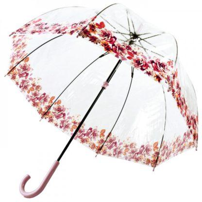 Зонт-трость женский Fulton Birdcage-2 L042 Crimson Floret (Багровый Цветочек)