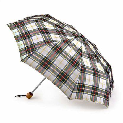 Зонт женский Fulton Stowaway Deluxe-2 L450 White Stewart Tartan (Стюарт тартан)