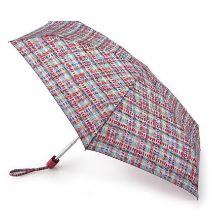 Мини зонт женский Fulton Tiny-2 L501 Watercolour Check (Клетка)