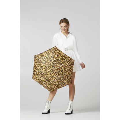 Мини зонт женский Fulton L501 Tiny-2 Bling Leopard (Леопард с блестками)