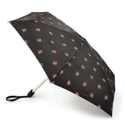 Мини зонт женский Fulton Tiny-2 L501 Floral Bud (Лиловые бутоны)