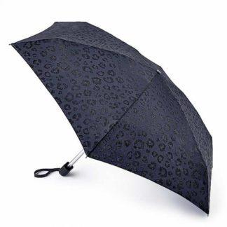 Мини зонт женский Fulton Tiny-2 L501 Glitter Leopard (Блестящий Леопард)