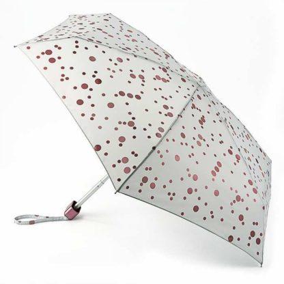 Мини зонт женский Fulton Tiny-2 L501 Rose Gold Metallic Spots (Розовое золото)