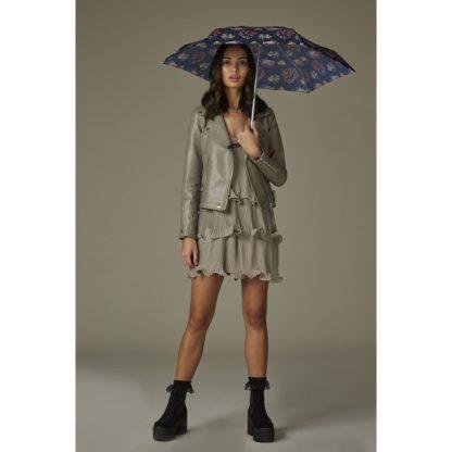 Мини зонт женский Fulton Tiny-2 L501 Steel Roses (Стальные Розы)