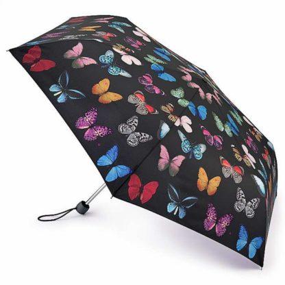 Зонт женский Fulton Superslim-2 L553 Butterfly Study (Летящие Бабочки)