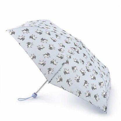 Зонт женский Fulton Superslim-2 L553 Stripe Frenchie (Французский бульдог)