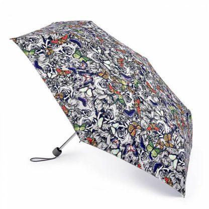 Зонт женский Fulton Superslim-2 L553 Butterfly N Roses (Бабочки на розах)