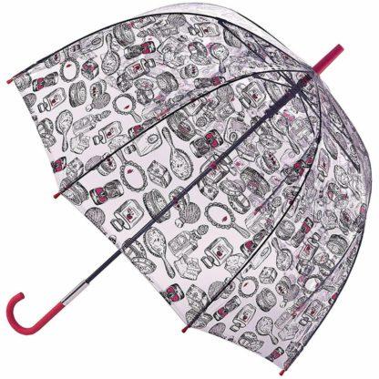 Зонт-трость женский Lulu Guinness by Fulton L719 Birdcage-2 Dressing Table