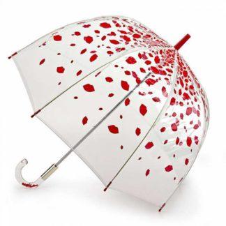 Зонт-трость женский Lulu Guinness by Fulton L719 Birdcage-2 Raining Lips