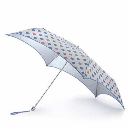 Зонт женский Fulton Parasoleil UV L752 Pastel Spot (Горошек)