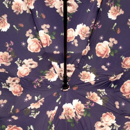 Зонт-трость женский Fulton Bloomsbury-2 L754 Midnight Bloom (Полночный цветок)