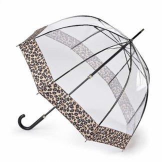 Зонт-трость женский Fulton L866  Birdcage-2 Luxe Natural Leopard (Леопард)
