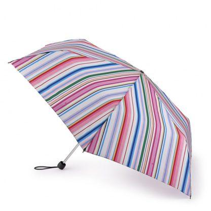 Зонт женский Fulton L902 Superslim-2 Funky Stripe (Разноцветные полоски)
