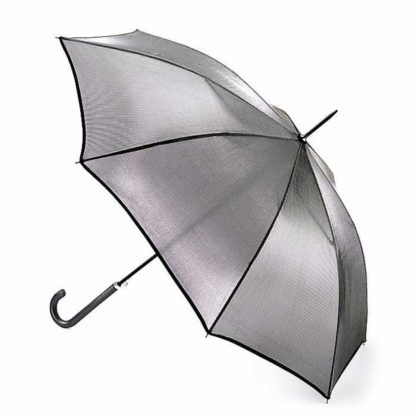 Зонт-трость женский Fulton L903 Kew-2 Silver Iridescent (Серебро)