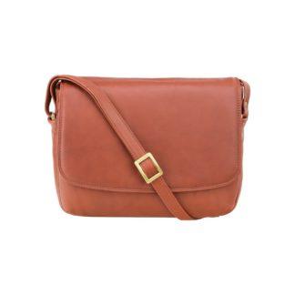 Кожаная женская сумка через плечо коричневая Visconti 3190 Claudia (Brown)