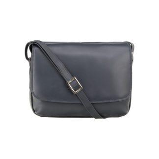 Кожаная женская сумка через плечо темно-синяя Visconti 3190 Claudia (Navy)
