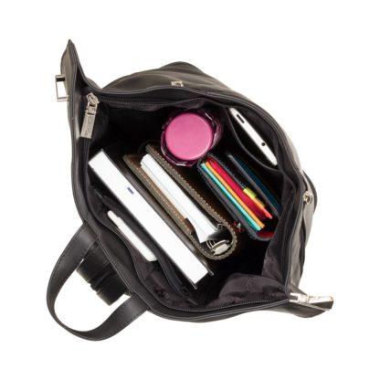 Кожаный женский рюкзак Visconti 18258 Brooke (Black)