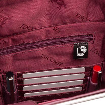 Кожаная женская сумка для ноутбука и документов Visconti 18427 Ollie (L) (Plum)