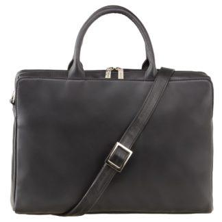 Кожаная женская сумка для ноутбука и документов Visconti 18427 Ollie (L) (Black)