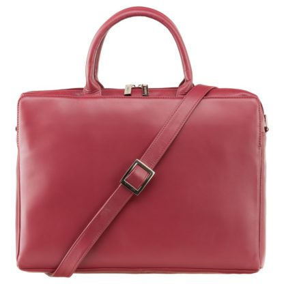 Кожаная женская сумка для ноутбука и документов Visconti 18427 Ollie (L) (Red)