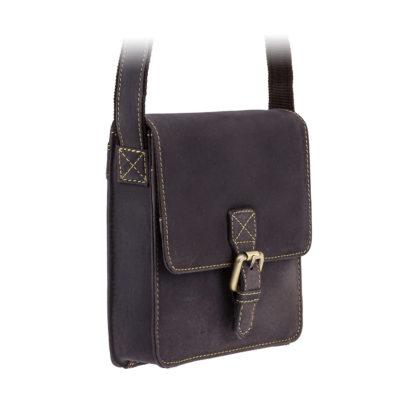 Небольшая сумка на плечо кожаная Visconti 18722 Roca (Oil Brown)