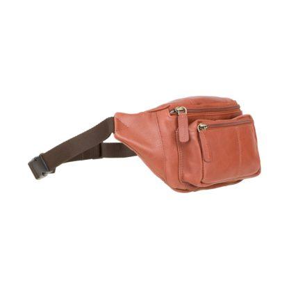 Кожаная сумка на пояс (бананка) коричневая Visconti 720 Bumbag (Brown)