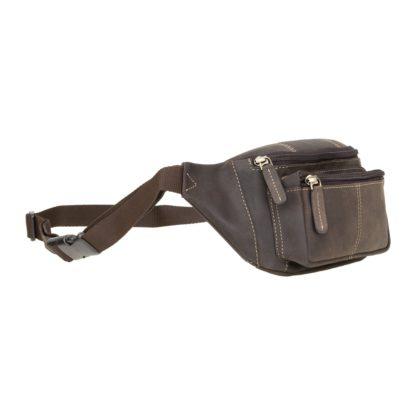 Кожаная сумка на пояс (бананка) коричневая Visconti 720 Bumbag (Oil Brown)