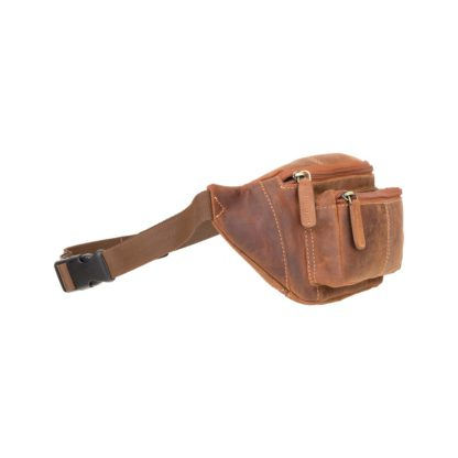 Кожаная сумка на пояс (бананка) коричневая Visconti 720 Bumbag (Oil Tan)