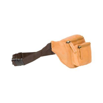 Кожаная сумка на пояс (бананка) бежевая Visconti 720 Bumbag (Sand)