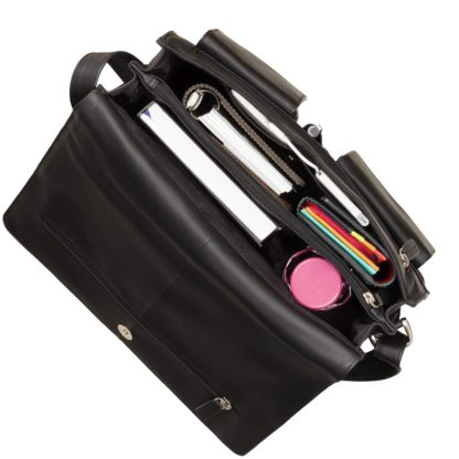 Кожаная сумка-мессенджер Visconti 753 Tess (L) (Black)