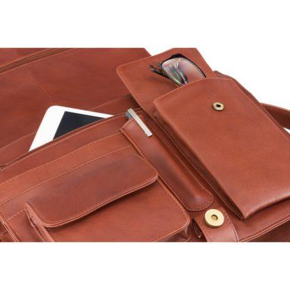 Кожаная сумка-мессенджер Visconti 753 Tess (L) (Brown)