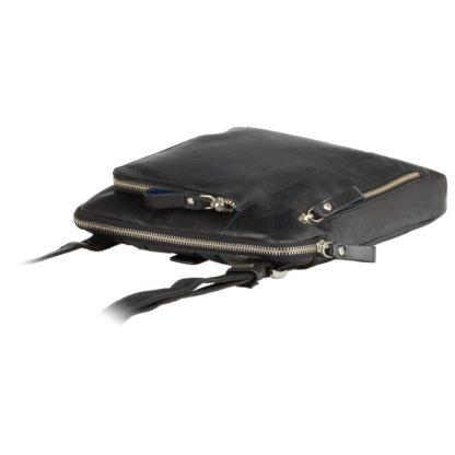 Кожаная мужская сумка на плечо черная Visconti ML20 Roy (Black)