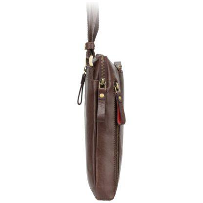 Кожаная мужская сумка на плечо коричневая Visconti ML20 Roy (Brown)