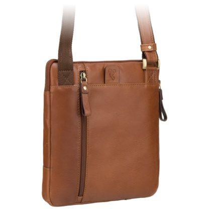 Кожаная мужская сумка на плечо коричневая Visconti ML20 Roy (Tan)