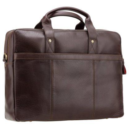 Кожаная сумка для ноутбука мужская коричневая Visconti ML24 (Brown)