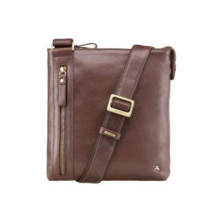 Мужская кожаная сумка на плечо коричневая Visconti ML25 (Brown)