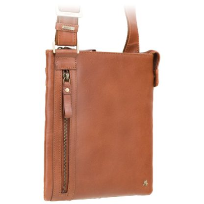 Мужская кожаная сумка на плечо коричневая Visconti ML25 (Tan)