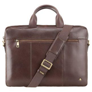 Кожаная сумка для ноутбука коричневая Visconti ML28 (Brown)