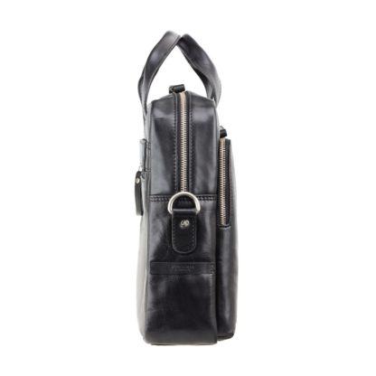 Кожаная сумка для ноутбука 15 дюймов Visconti ML31 (Black) черная