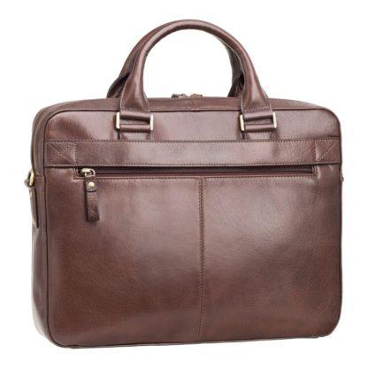 Мужская кожаная сумка для ноутбука 13'' коричневая Visconti ML34 Victor (Brown) RFID