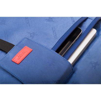 Мужская кожаная сумка для ноутбука 13'' черная Visconti ML34 Victor (Black) RFID