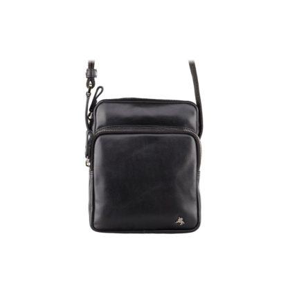 Небольшая мужская сумка-мессенджер черная Visconti ML40 Riley (Black) RFID