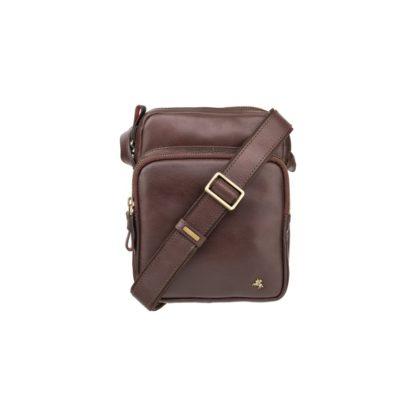 Небольшая мужская сумка-мессенджер коричневая Visconti ML40 Riley (Brown) RFID