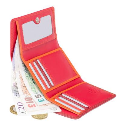 Красный женский кошелек Visconti RB39 Biola c RFID (Red Multi)