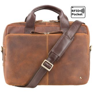 Кожаная сумка для ноутбука 15 дюймов Visconti TC84 Hugo (Tan Merlin)