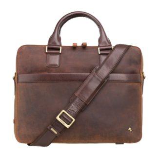 """Кожаная сумка для ноутбука 13"""" Visconti TC88 Victor 13 (Havana Tan-mln) коричневая"""