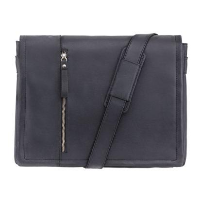 Кожаная сумка для ноутбука 13 дюймов Visconti 16072 Foster (L) (Oil Black)