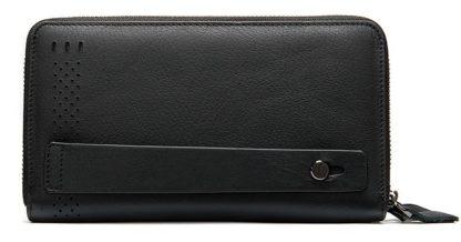 Кожаный мужской клатч на молнии Tiding Bag 8025A